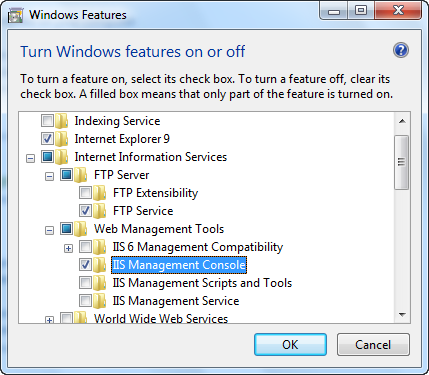 FTP site on Windows 7 - install