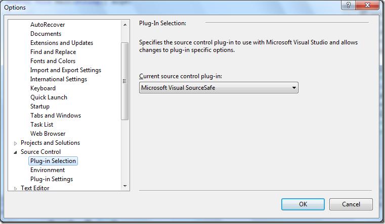 Visual Studio 2012 supports Visual SourceSafe
