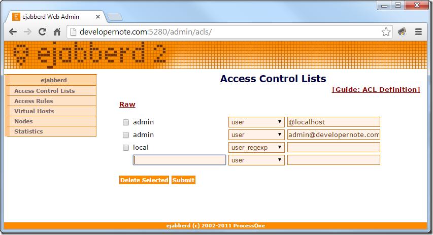 Jabber Web-Admin