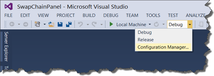 Visual Studio 2013 Configuration Manger