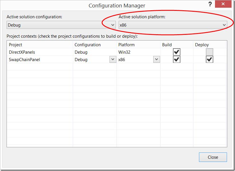 Visual Studio 2013 Configuration Manger