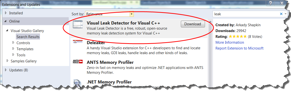 Using Visual Leak Detector
