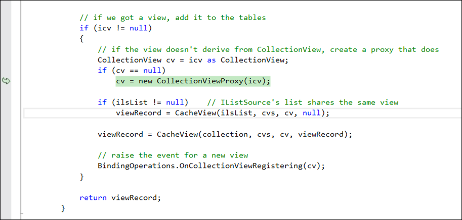 debugging WPF source code