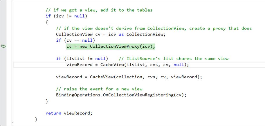 debugging WPF source code