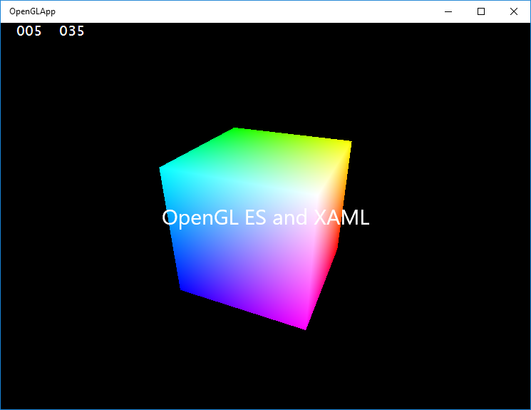 XAML App for OpenGL ES