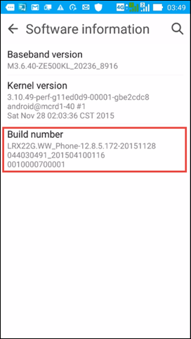 enabling USB debugging mode on Android device