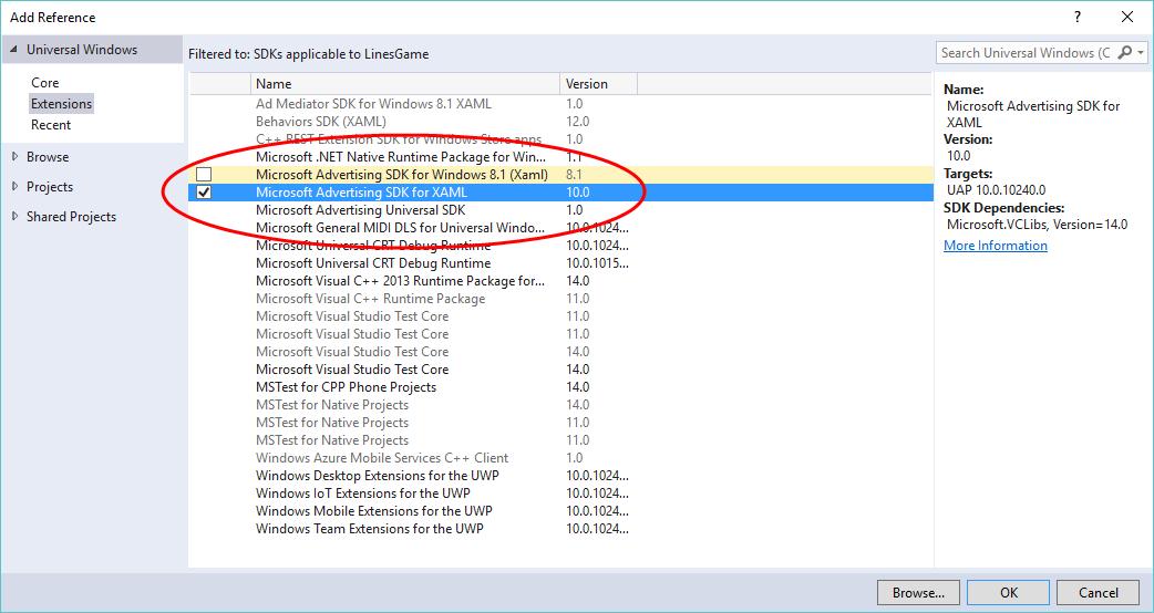 Microsoft Advertising SDK for Windows 8.1