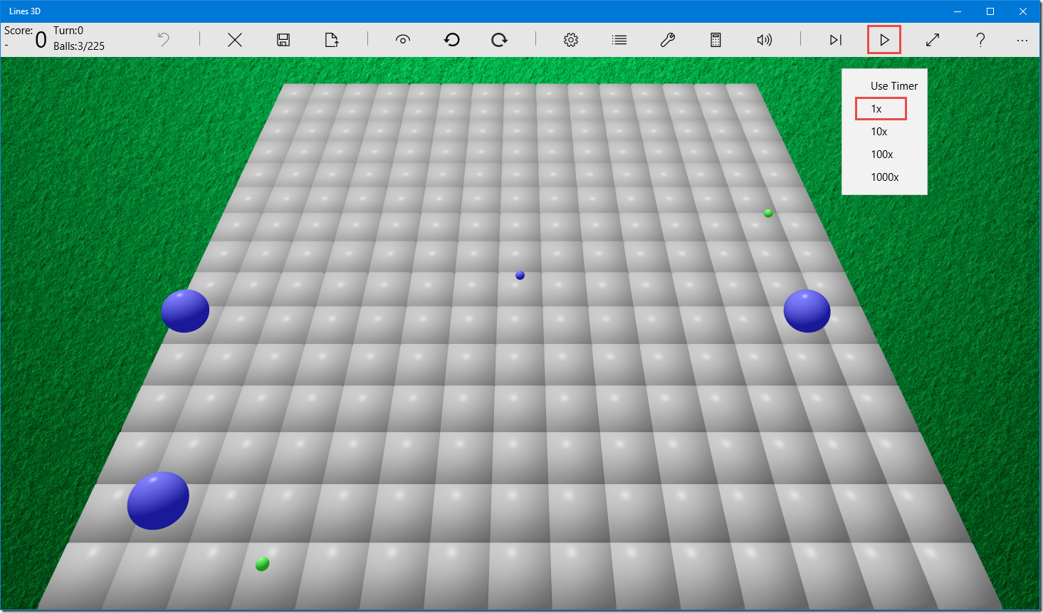 Lines 3D game auto-play mode