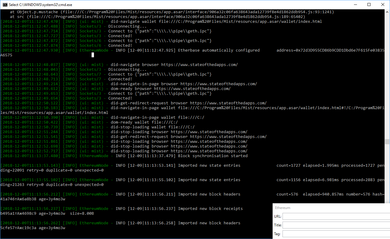 Setting up Ethereum node on Windows 10 and Ubuntu